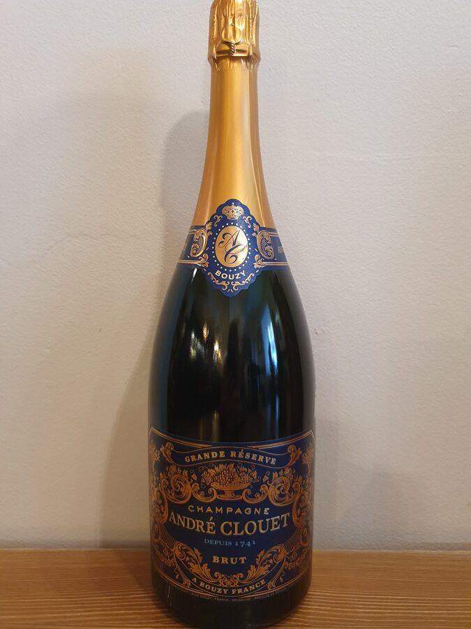 NV Champagne Andre Clouet, Grande Réserve, Bouzy, Brut, Champagne, France, Magnum 1.5L