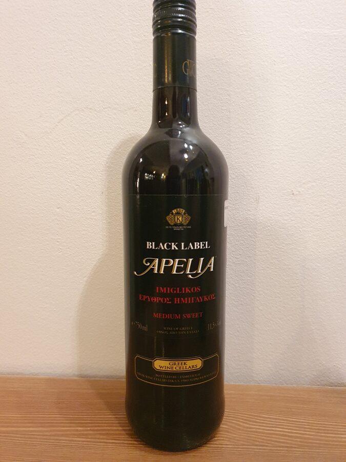 NV Apelia Black Label, Medium Sweet, Greece