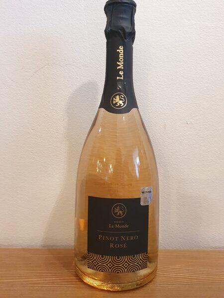 NV Le Monde, Pinot Nero, Rose, Vino Spumante, Brut, Italy